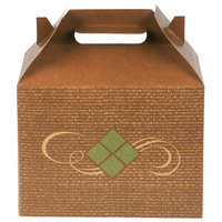 Southern Champion 27096 8 7/8 inch x 5 inch x 6 3/4 inch Hearthstone Barn Take Out Dinner / Chicken Box with Handle - 150/Case