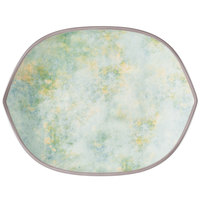 Villeroy & Boch 16-4050-2780 Artesano Meadow 12 1/4 inch x 9 1/2 inch River Porcelain Hexagon Flat Plate - 4/Case