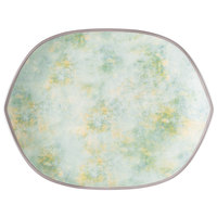 Villeroy & Boch 16-4050-2820 Artesano Meadow 14 1/4 inch x 11 1/4 inch River Porcelain Hexagon Flat Plate - 4/Pack