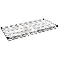 Regency 24 inch x 48 inch NSF Black Epoxy Slanted Wire Shelf