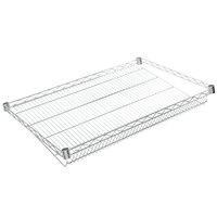 Regency 24 inch x 36 inch NSF Chrome Slanted Wire Shelf