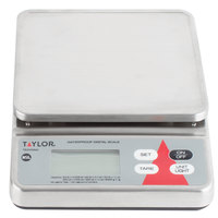 Taylor TE20SSW 20 lb. Waterproof Digital Portion Control Scale