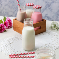Acopa 10 oz. Glass Milk Bottle - 12/Case
