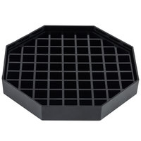 Choice 6 inch Black Octagonal Drip Tray with Removable Grate