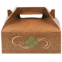 Southern Champion 27016 8 7/8 inch x 5 inch x 3 1/2 inch Hearthstone Barn Take Out Dinner / Chicken Box with Handle - 250/Case