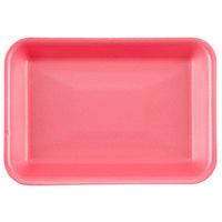 Genpak 1002 (#2) Foam Meat Tray Rose 8 1/4 inch x 5 3/4 inch x 1 inch - 500/Case