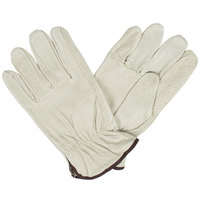 Economy Grain Pigskin Driver's Gloves with Keystone Thumbs- Medium - Pair