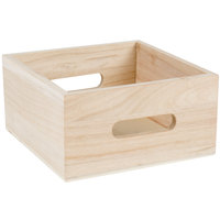 Choice Natural Wooden Display Crate / Condiment Caddy
