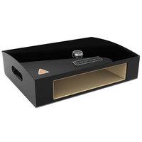BakerStone O-AHXXX-O-000 Black Ceramic Original Grill Top Pizza Oven - 23 3/8 inch x 16 3/4 inch x 6 3/8 inch