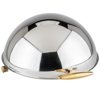 Choice 6.5 Qt. Supreme Roll Top Gold Trim Chafer Cover