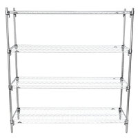 Metro A316C Super Adjustable Chrome Wire Stationary 4-Shelf Shelving Unit - 18 inch x 24 inch x 63 inch