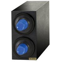 San Jamar C2902BK EZ-Fit Black 2-Slot 8 - 46 oz. Cup Dispenser Cabinet with Black Trim Ring