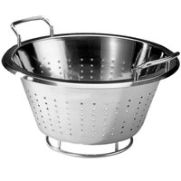 Matfer Bourgeat 713828 5.38 Qt. Stainless Steel Conical Colander with Handles
