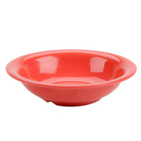 Thunder Group CR5716RD Orange 18 oz. Melamine Soup Bowl - 12/Case