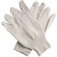 Economy Weight Nap-In Polyester / Cotton Double Palm Work Gloves - Large - Pair - 12/Pack