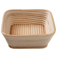 Matfer Bourgeat 118528 8 3/4 inch x 8 3/4 inch Willow Square Banneton Proofing Basket