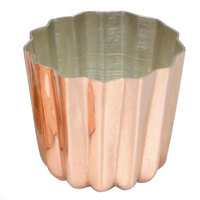 Matfer Bourgeat 340415 1 3/8 inch x 1 3/8 inch Tin-Lined Copper Cannele Mold