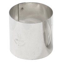 Matfer Bourgeat 375114 2 3/8 inch x 2 3/16 inch Stainless Steel Round Cake Ring - 4/Pack