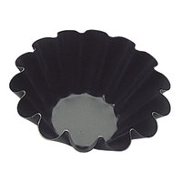 Matfer Bourgeat 330647 Exopan 3 1/2 inch Fluted Non-Stick Brioche Mold - 12/Pack