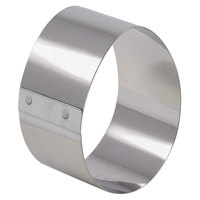Matfer Bourgeat 376040 3 inch x 1 3/4 inch Stainless Steel Oval Cake Ring - 4/Pack