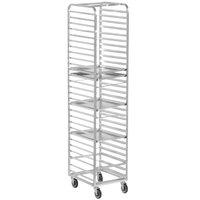 Channel 400A 30 Pan End Load Aluminum Bun / Sheet Pan Rack - Assembled