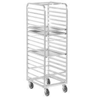 Channel 406A 18 Pan End Load Aluminum Bun / Sheet Pan Rack - Assembled