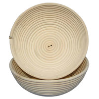 Matfer Bourgeat 118506 10 1/4 inch Willow Round Banneton Proofing Basket