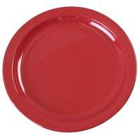 Carlisle KL20105 Kingline 7 1/4 inch Red Sandwich Plate - 48 / Case