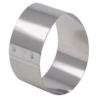 Matfer Bourgeat 375042 3 3/16 inch x 2 3/8 inch Stainless Steel Egg Cake Ring - 4/Pack