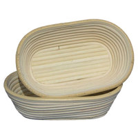 Matfer Bourgeat 118502 9 1/2 inch x 6 inch Willow Oval Banneton Proofing Basket