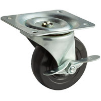 True 830217 4 inch Swivel Plate Caster with Brake