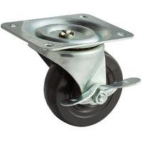 True 830217 4 inch Swivel Plate Caster with Brake