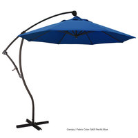 California Umbrella BA908 PACIFICA Bayside 9' Crank Lift Cantilever Umbrella with 2 inch Aluminum Pole - Pacifica Canopy
