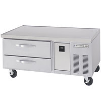 Beverage-Air WTRCS52-1-56-FLT 56 inch Two Drawer Refrigerated Chef Base with Flat Top