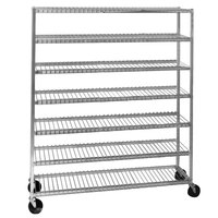 Channel 568 7 Shelf Mobile Aluminum Cooling Rack