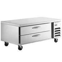 Beverage-Air WTRCS60D-1-FLT 60 inch Two Drawer Refrigerated Chef Base with Flat Top