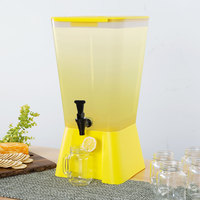 Choice 5 Gallon Yellow Beverage / Juice Dispenser