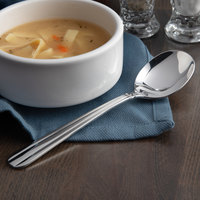 Acopa Harmony 6 7/8 inch 18/8 Stainless Steel Extra Heavy Weight Bouillon Spoon - 12/Case