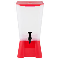 Choice 5 Gallon Red Beverage / Juice Dispenser