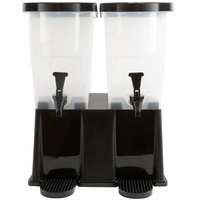 Choice 6 Gallon Black Double Stand Beverage Dispenser