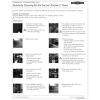 TurboChef DOC-1343 Quarterly Encore Oven Cleaning Poster