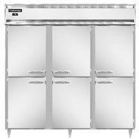 Continental DL3F-SS-HD 78 inch Solid Half Door Reach-In Freezer