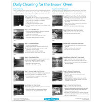 TurboChef DOC-1318 Daily Encore Oven Cleaning Poster