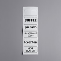 Choice Beverage Dispenser Labels