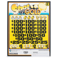 Shot of Gold 5 Window Pull Tab Tickets - 2960 Tickets per Deal - Total Payout: $2208