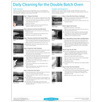 TurboChef DOC-1509 Daily Double Batch Oven Cleaning Poster