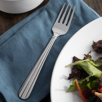 Acopa Harmony 7 inch 18/8 Stainless Steel Extra Heavy Weight Salad Fork - 12/Case