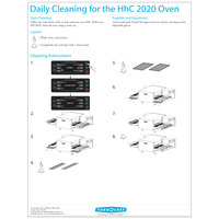 TurboChef DOC-1082 Daily HHC Oven Cleaning Poster