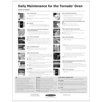 TurboChef NGC-1362 Daily Tornado Oven Cleaning Poster
