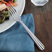 Acopa Harmony 7 5/16 inch 18/8 Stainless Steel Extra Heavy Weight Dinner Fork - 12/Case